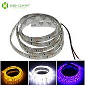 SENCART 1m Fleksible LED-lysstriper 120 LED Hvit / Blå / Gul Kuttbar / Vanntett 12 V / IP68