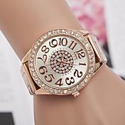 Mujer Simulado Diamante Reloj Reloj de Moda Cuarzo suizo La imitación de diamante Los diseñadores Metal Banda Encanto Plata Dorado Oro