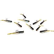 5 stk Myk Agn Sluk myke jerkbaits Shad Myk Lokkemat Myk Plastikk Bly Silikon Søfisking Ferskvannsfiskere Lokke Fiske Bass Fiske