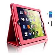 Para Carcasa Funda con Soporte Activado / Apagado Automático Cuerpo Entero Funda Color sólido Cuero Sintético para iPad 4/3/2