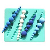 perla moldes para pasteles tornillo molde de chocolate para la herramienta de decoración sugarcraft molde de arcilla de la cocina para
