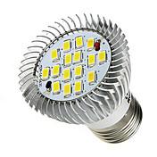 E26/E27 Focos LED 16 leds SMD 5630 Blanco Fresco 520-550lm 6000-6500K AC 85-265V
