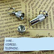 Gato Perro Etiquetas Etiquetas de Identificación Seguridad Un Color Aluminio Blanco/Plata