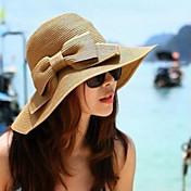 Cestería Sombreros Para la Cabeza with Flor 1pc Ocasión especial Casual Al aire libre Celada