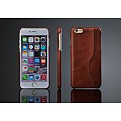 제품 iPhone 8 iPhone 8 Plus iPhone 6 Plus 케이스 커버 뒷면 커버 케이스 하드 천연 가죽 용 iPhone 8  Plus iPhone 8 iPhone 6s Plus iPhone 6 Plus