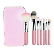 7pcs Profesional Pinceles de maquillaje Sistemas de cepillo Pincel de Nylon Viaje / Ecológica / Profesional Ojo / Rostro / Labio Pincel