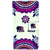 søt elefant mønster med kort bag full body sak for Samsung Galaxy Note 4 n9100