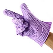 1PCS 실리콘 오븐 장갑은 장갑을 베이킹 도구를 절연 (임의의 색)