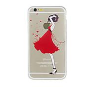 Para Funda iPhone 5 Transparente Diseños Funda Cubierta Trasera Funda Chica Sexy Suave TPU para iPhone SE/5s iPhone 5