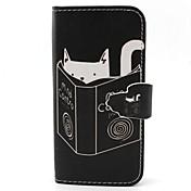 Etui Til Samsung Galaxy Samsung Galaxy Etui Kortholder Lommebok med stativ Flipp Heldekkende etui Katt PU Leather til S6 edge S6 S5 Mini