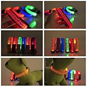 Perro Cuello Luces LED Impermeable Nailon Amarillo Rojo Verde Azul Rosa