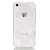 Modelo de flor hueca ultrafina caso duro para el iphone 5c