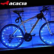 자전거 라이트 바퀴 등 LED - 싸이클링 색상-변화 셀 베터리 400 루멘 USB 배터리 사이클링-Acacia