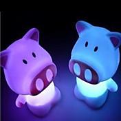 LED misfarge gris formet nattlys