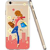 Para Funda iPhone 6 Transparente / Diseños Funda Cubierta Trasera Funda Chica Sexy Suave TPU iPhone 6s/6