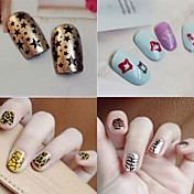 1 3D Nail Acrylic Moulds Nail Stamping Template Daglig Blomst Abstrakt Tegneserie Mote Smuk Bryllup Punk Høy kvalitet