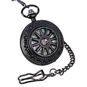 Hombre Reloj de Bolsillo / El reloj mecánico Huecograbado Aleación Banda Lujo / Cuerda Manual