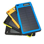 strømbank eksternt batteri 5V 2.0A #A Batterilader Vanntett Støvtett Lommelykt Solenergilading Støtsikker LCD
