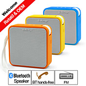 Utendørs Innendørs Bluetooth Bærbar Trådløs Bluetooth 2.0 3,5 mm AUX Subwoofer Oransje Gul Blå