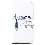 Etui Til Samsung Galaxy Samsung Galaxy Etui Kortholder Lommebok med stativ Flipp Heldekkende etui Ord / setning PU Leather til Grand