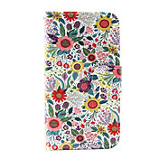 Funda Para Samsung Galaxy Funda Samsung Galaxy Soporte de Coche Cartera con Soporte Flip Funda de Cuerpo Entero Flor Cuero de PU para J5