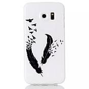 Etui Til Samsung Galaxy Samsung Galaxy Etui Mønster Fjær til S6 edge S6 S5 S4 S3