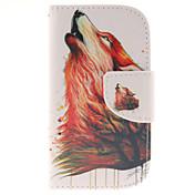 Funda Para Samsung Galaxy Funda Samsung Galaxy Soporte de Coche Cartera con Soporte Flip Funda de Cuerpo Entero Animal Cuero de PU para