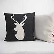 1 PC Algodón Lino Algodón/Lino Funda de almohada Almohada innovadora Cobertor de Cojín, Floral Geométrico Estampado Animal A Cuadros