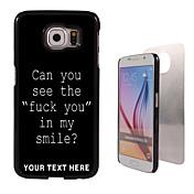 용 삼성 갤럭시 케이스 패턴 케이스 뒷면 커버 케이스 단어 / 문구 PC Samsung S6 edge plus / S6 edge / S6 / S5 Mini / S5 / S4 / A8 / A7 / Note 5 / Note 4