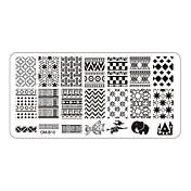 Flor - Dedo / Dedo del Pie - Otras Decoraciones - Metal - 5pcs nail plates - 12cmX6cm each piece - ( cm )