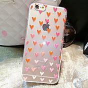 Funda Para Apple iPhone 6 iPhone 6 Plus Transparente Diseños Funda Trasera Corazón Suave TPU para iPhone 6s Plus iPhone 6s iPhone 6 Plus