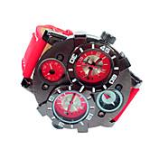 JUBAOLI Hombre Reloj de Pulsera Reloj Militar Cuarzo Calendario Piel Banda Negro Azul Rojo Marrón Azul marino