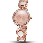 Mujer Reloj de Moda Reloj Pulsera Cuarzo Resistente al Agua Aleación Banda Encanto Elegantes Plata DoradoDorado Oro/Blanco Plata/Negro