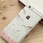 rosa hojas caídas estuche blando patrón del tpu para el iphone 6 más / 6s más