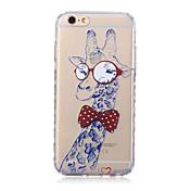 용 아이폰6케이스 / 아이폰6플러스 케이스 투명 / 패턴 케이스 뒷면 커버 케이스 동물 소프트 TPU iPhone 6s Plus/6 Plus / iPhone 6s/6