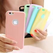 Etui Til iPhone 5 Apple iPhone 8 iPhone 8 Plus Etui iPhone 5 Ultratynn Bakdeksel Helfarge Myk TPU til iPhone 8 Plus iPhone 8 iPhone SE/5s