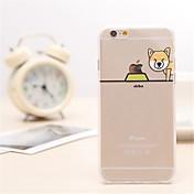 modelo del perro Shiba TPU / material de acrílico caso de la contraportada para el iphone 6s más / 6 más