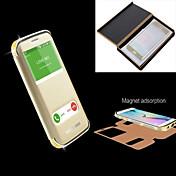 용 삼성 갤럭시 케이스 크리스탈 / 윈도우 / 플립 케이스 풀 바디 케이스 단색 메탈 Samsung S6 edge plus