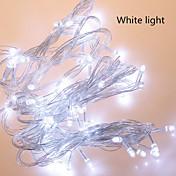 100 LED Blanco Cálido Amarillo Rojo Recargable Impermeable AC100-240 AC 100-240V