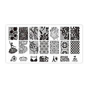 꽃 - 핑거 / 발가락 - 다른 데코레이션 - 금속 - 5pcs nail plates - 12cmX6cm each piece