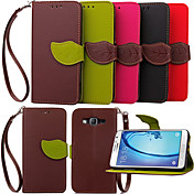 Etui Til Samsung Galaxy Samsung Galaxy Etui Kortholder Lommebok med stativ Flipp Heldekkende etui Helfarge PU Leather til Young 2 On 7 On