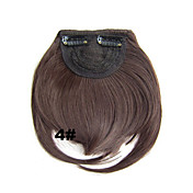 Corta Pelo sintético La extensión del pelo Recto Con Clip 1pc Other Diario Alta calidad Mujer Extensiones sintéticas Extensiones Naturales
