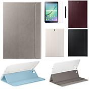 Funda Para Samsung Galaxy Tab S2 9.7 Tab S2 8.0 Funda Samsung Galaxy con Soporte Flip Magnética Funda de Cuerpo Entero Color sólido Cuero