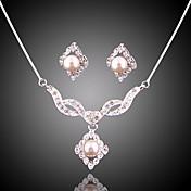 Mujer Conjunto de joyas - Perla, Brillante Moda Incluir Para Boda / Fiesta / Ocasión especial / Aniversario / Pedida / Regalo / Diario / Pendientes