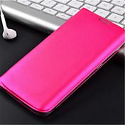 Etui Til Samsung Galaxy Samsung Galaxy Etui Kortholder Flipp Heldekkende etui Helfarge PU Leather til S6 edge