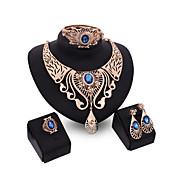 Mujer Cristal Conjunto de joyas - Incluir Rojo / Azul / Champaña Para Boda / Fiesta / Anillos / Collare