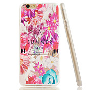 Para Funda iPhone 6 / Funda iPhone 6 Plus Diseños Funda Cubierta Trasera Funda Flor Suave TPU iPhone 6s Plus/6 Plus / iPhone 6s/6