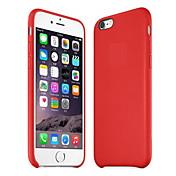 Etui Til Apple iPhone 8 iPhone 8 Plus Etui iPhone 5 iPhone 6 iPhone 6 Plus iPhone 7 Plus iPhone 7 Støtsikker Bakdeksel Helfarge Hard PU