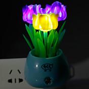 에너지 절약 LED 색 빛 작동 모드 야간 조명 램프 장미