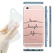 Funda Para iPhone 7 Plus iPhone 7 iPhone 5 Apple Funda iPhone 5 Transparente Diseños Funda Trasera Caricatura Suave TPU para iPhone 7